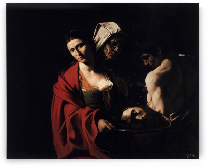 Salome with the head of the Baptist by Caravaggio