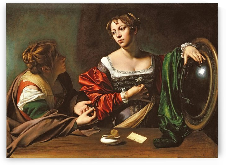 Martha and Mary by Caravaggio