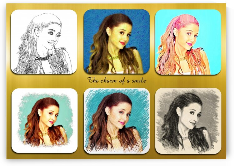 Ariana Grande pop star celebrity singer by Radiy