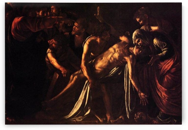 The ressurection of Lazarus by Caravaggio