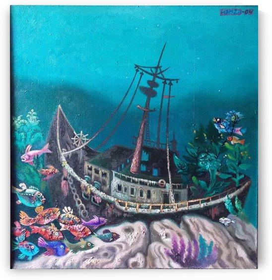 Sunken Ship by Hamza Abdullayev