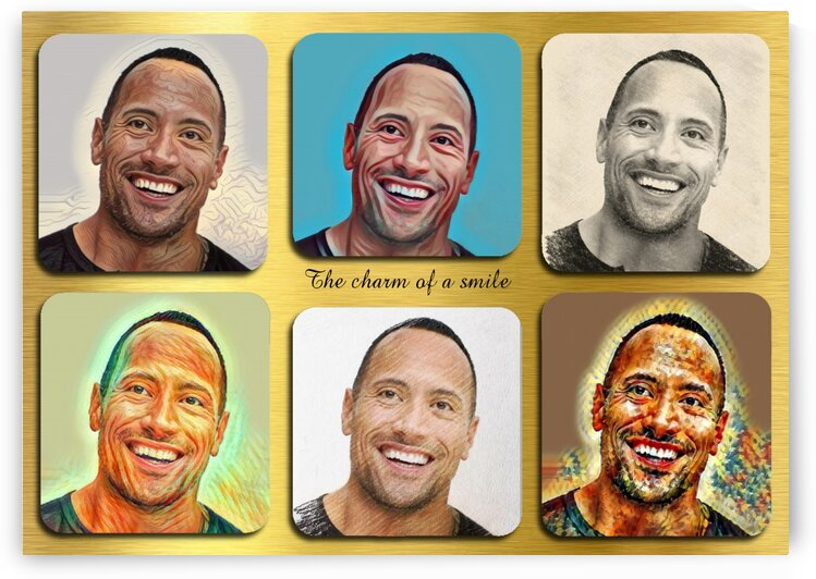 Dwayne Johnson pop star celebrity  by Radiy