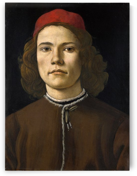 A young man by Sandro Botticelli