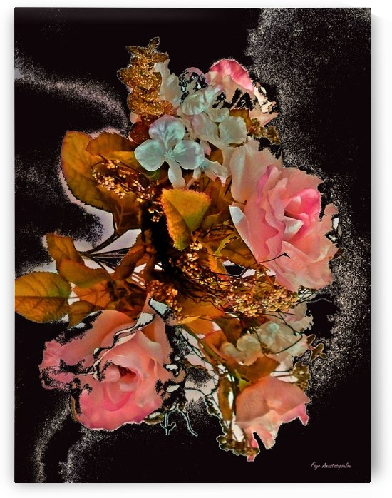 Rhapsody Of Pink Roses by Faye Anastasopoulou
