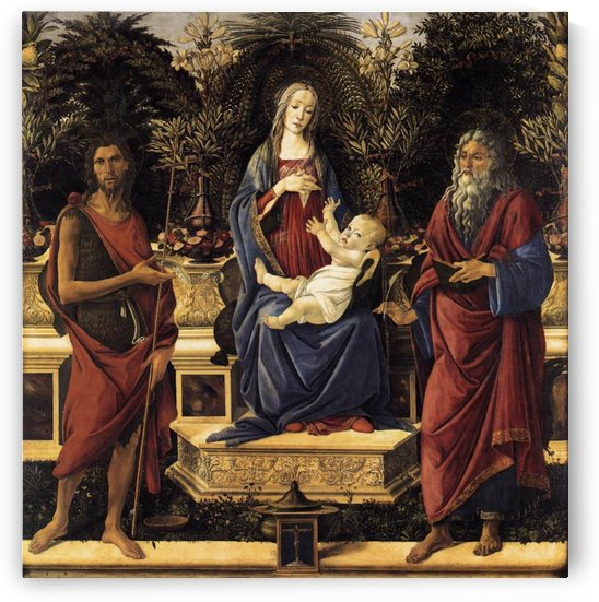The Virgin and Child Enthroned by Sandro Botticelli