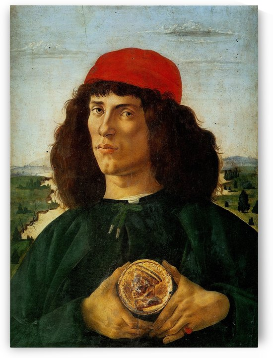 Portrait of a Man with a Medal of Cosimo the Elder by Sandro Botticelli