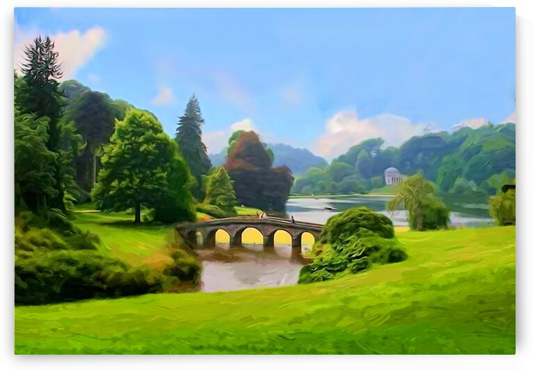 Landscape with a bridge. A park 2 by Radiy