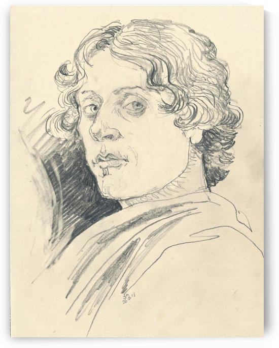 Sketch Sandro Botticelli self portrait by Sandro Botticelli
