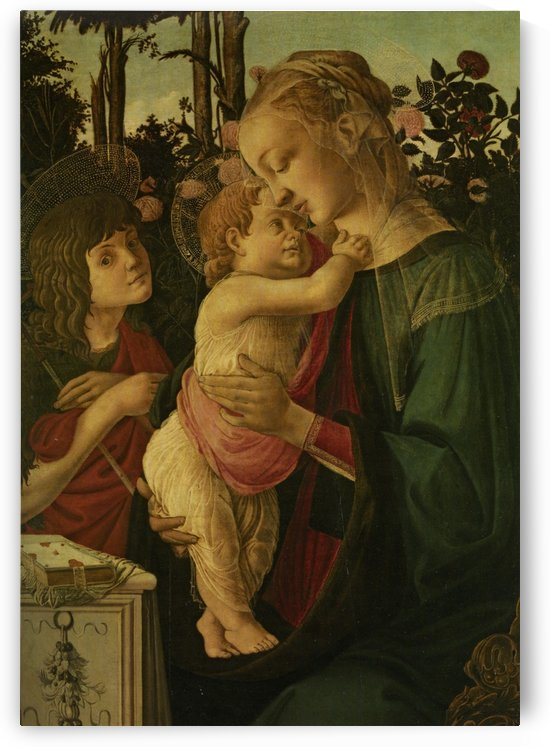 The Madonna and Child with the Infant Saint John the Baptist by Sandro Botticelli