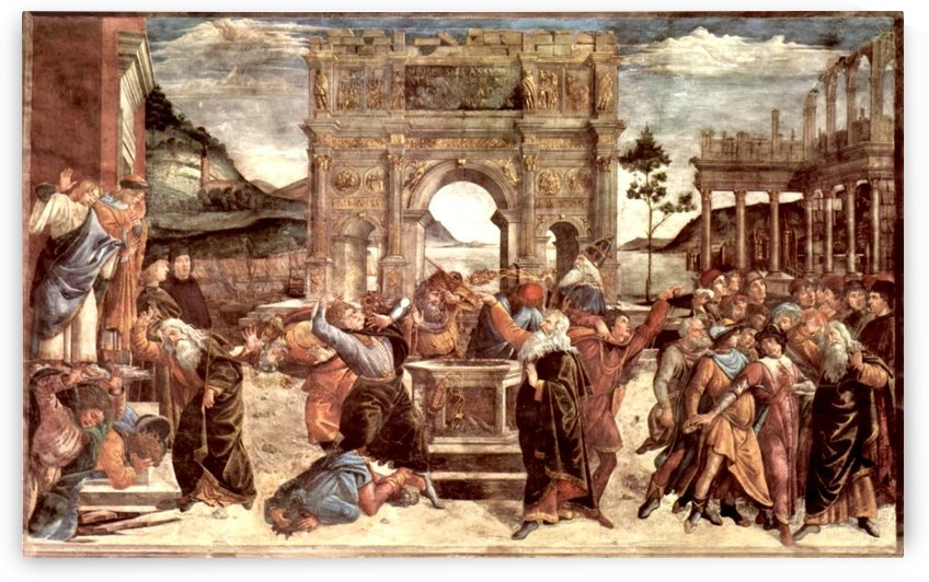 Scene from the Life of Moses by Sandro Botticelli