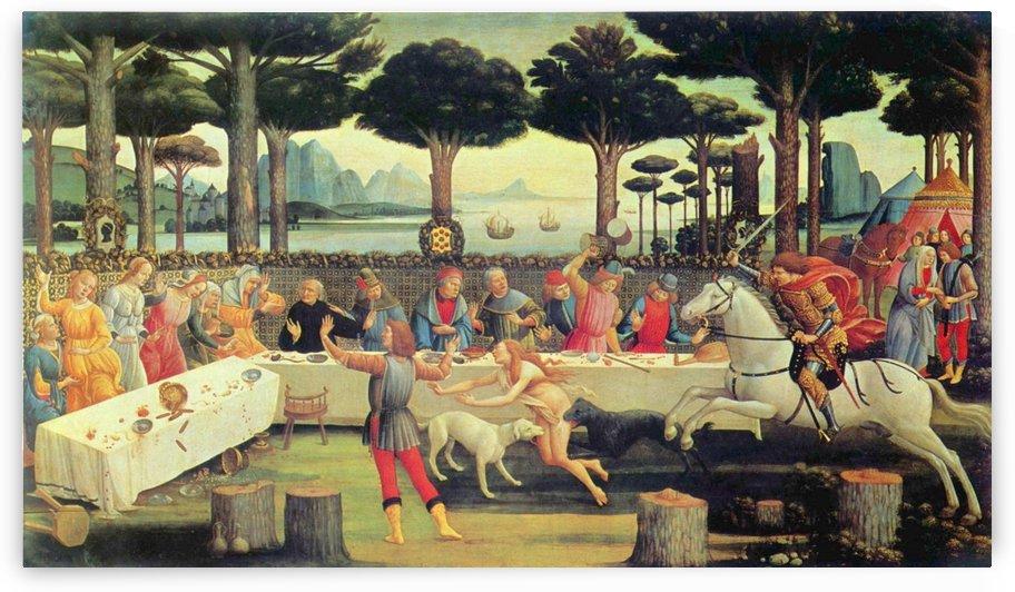 The Story of Nastagio Degli Onesti by Sandro Botticelli