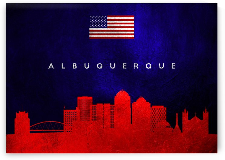 Albuquerque New Mexico Skyline by ABConcepts