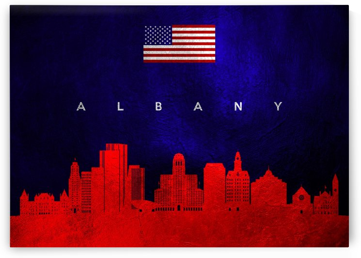 Albany New York Skyline by ABConcepts