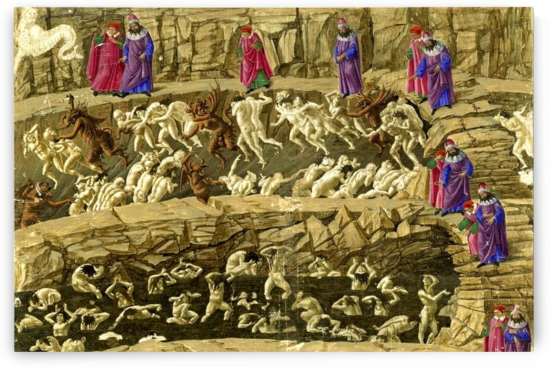Inferno, Canto XVIII by Sandro Botticelli