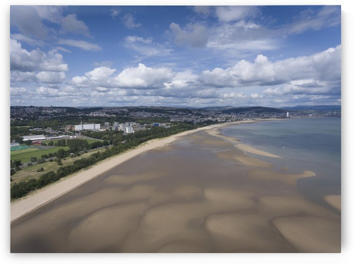 Swansea Bay at low tide by Leighton Collins