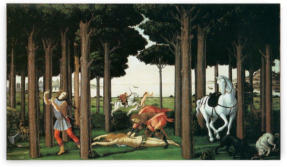 Story of nastagio degli onesti further episodes by Sandro Botticelli