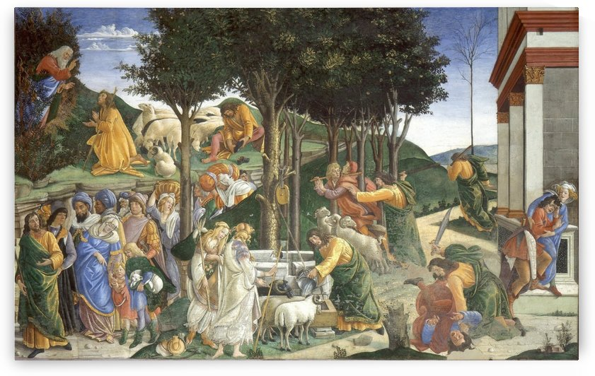 Trial of Moses by Sandro Botticelli