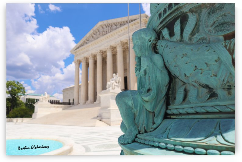 Washington DC Supreme court and Statue by Ibrahim Elsharkawy