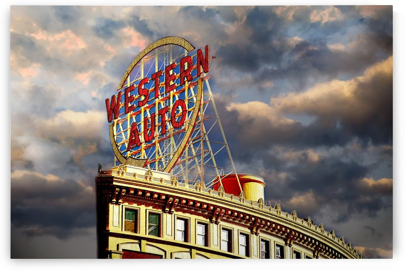 Western Auto Sign Kansas City Chiefs Colors by ANDEE DESIGN