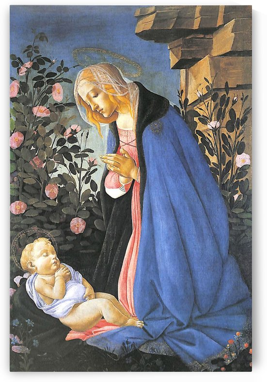 The Virgin Adoring the Sleeping Christ Child by Sandro Botticelli