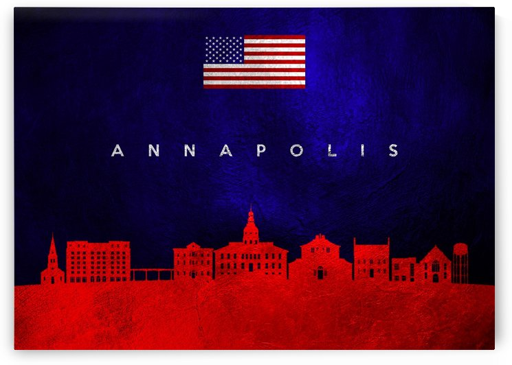 Annapolis Maryland Skyline by ABConcepts