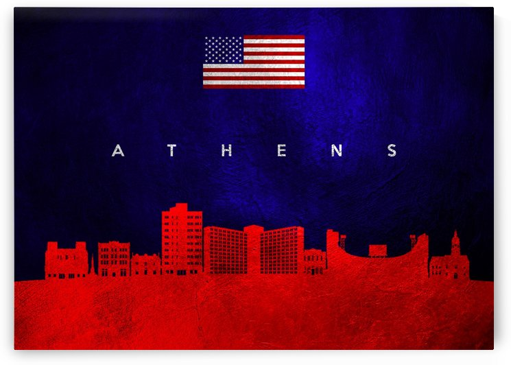 Athens Georgia Skyline by ABConcepts