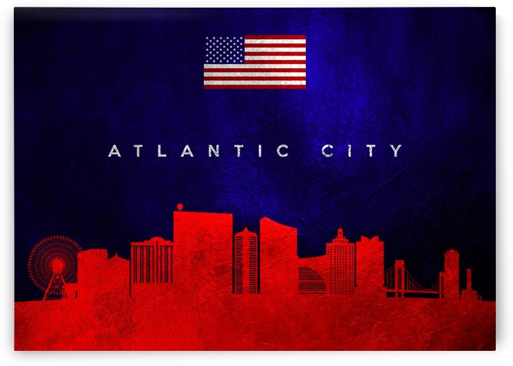 Atlantic City New Jersey Skyline by ABConcepts