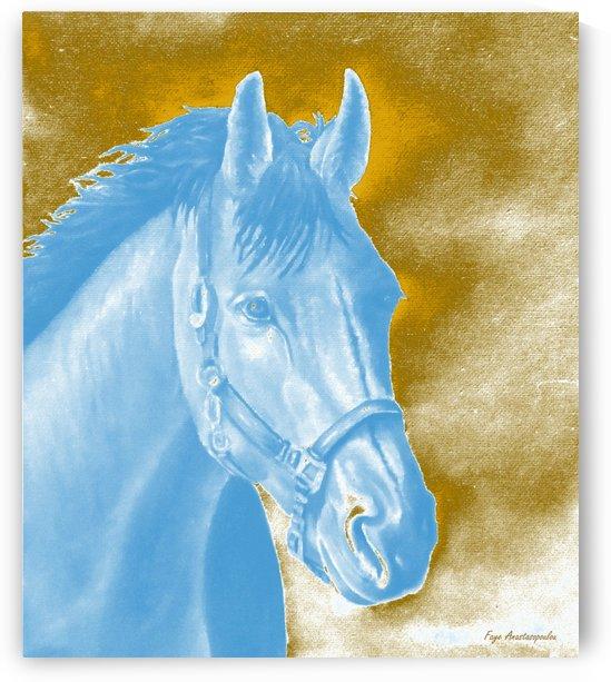 Golden Essence Horse by Faye Anastasopoulou