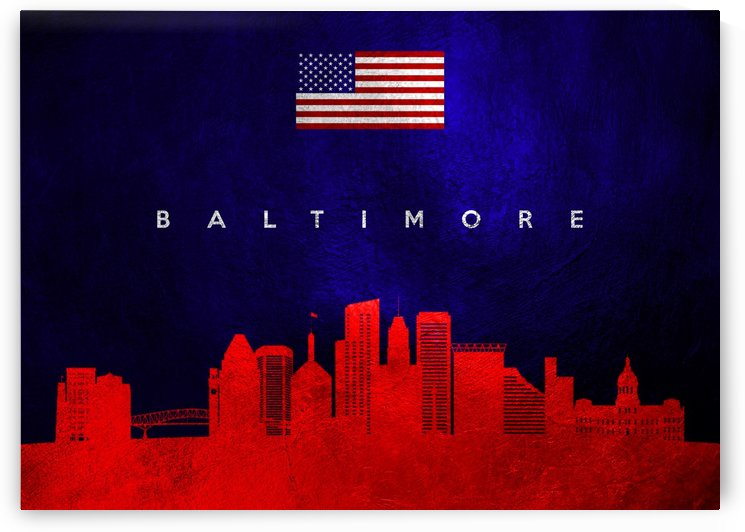 Baltimore Maryland Skyline by ABConcepts