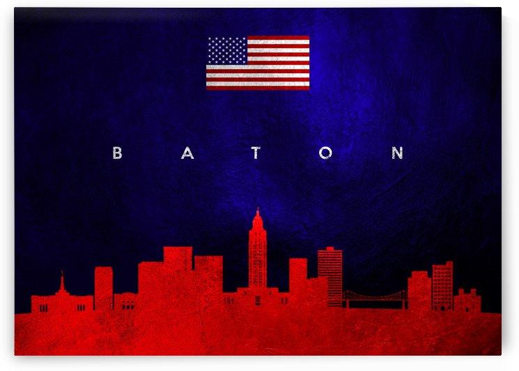 Baton Rogue Louisiana Skyline by ABConcepts