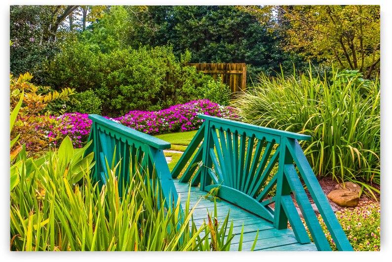 Garden Bridge in Garden by Darryl Brooks