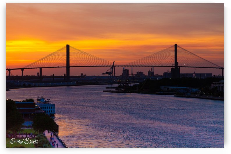 The Savannah River at Sunset by Darryl Brooks