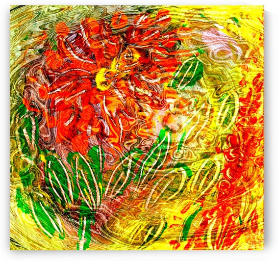 orange flower energy abstraction by BBS Art