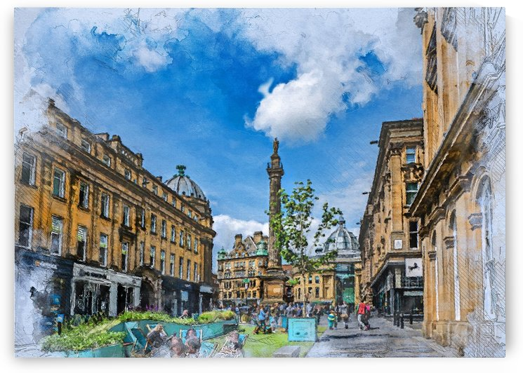 Newcastle upon Tyne city art  by Justyna Jaszke