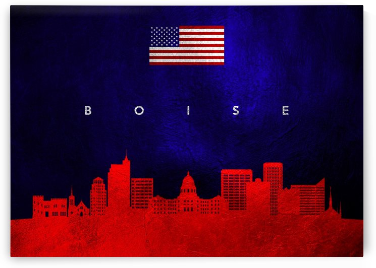 Boise Idaho Skyline by ABConcepts