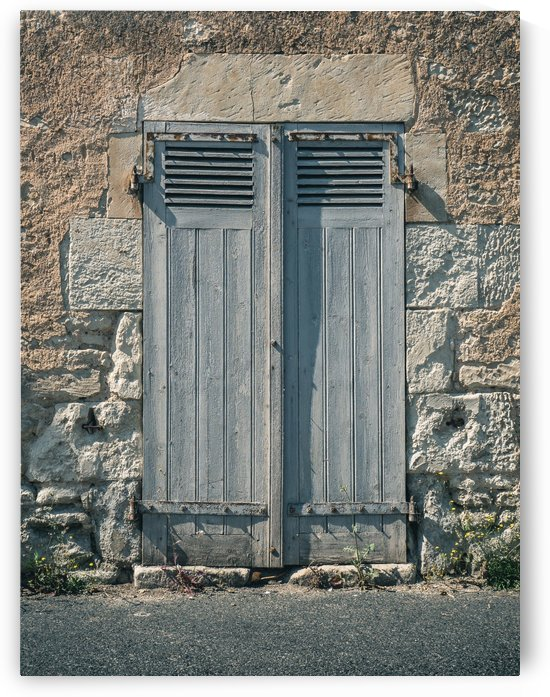 Old Door Gate in France by Art By Dominic