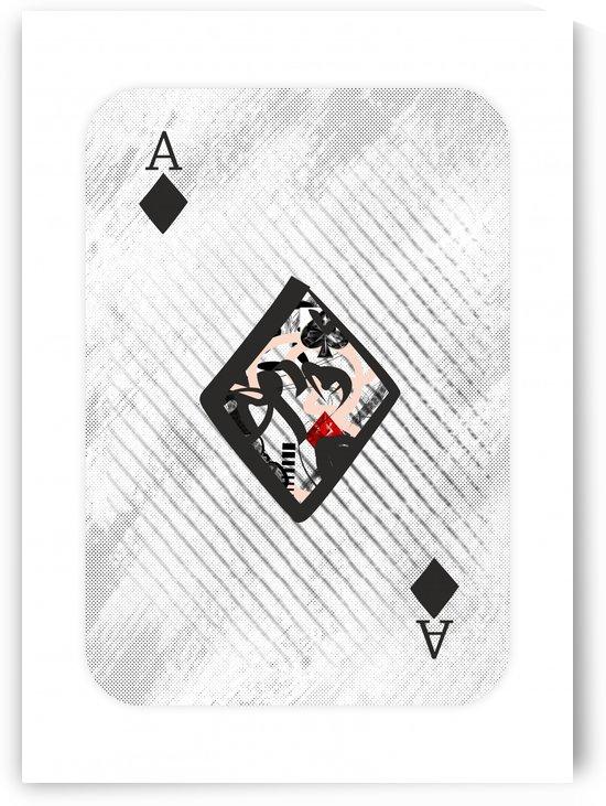 playing cards ace of diamondS by ANASTASIA SKARLATOUDI