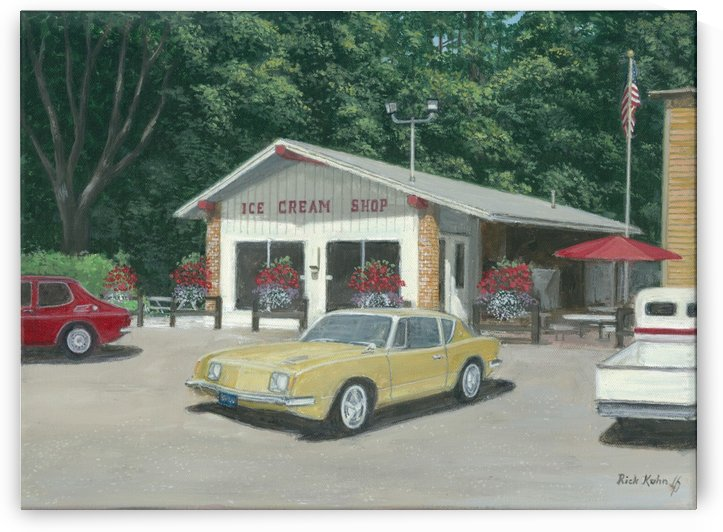 The Ice Cream Shop - Newtown Scenes  12 x 16  by Rick Kuhn