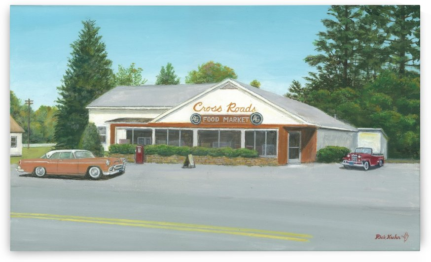 Cross Roads Store- Newtown Scenes 12 X 20  by Rick Kuhn