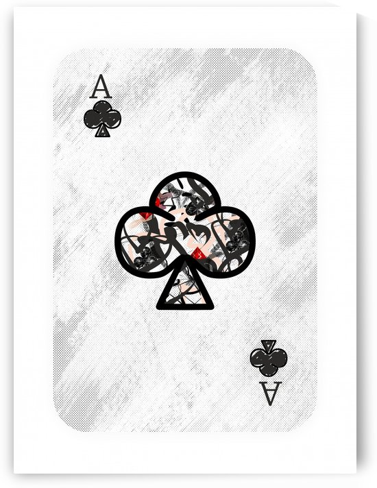 playing cards ace of clubs by ANASTASIA SKARLATOUDI