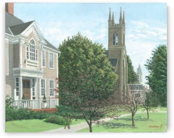 Main Street At Church Hill Road - Newtown Scenes 16X20 by Rick Kuhn