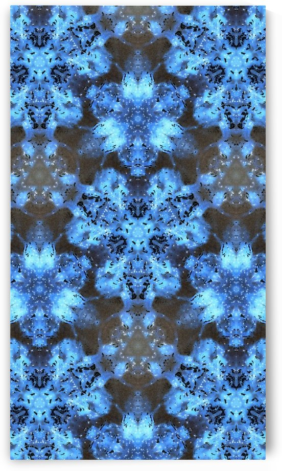 Kaleidoscope Burst of Blue  by Jeremy Lyman