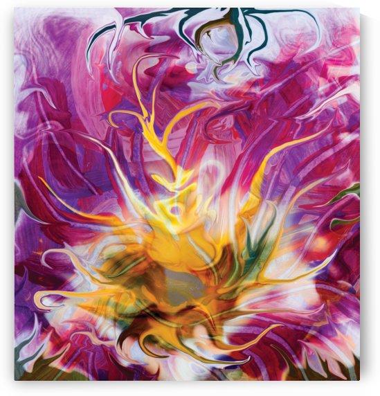 yellow fluid flower by BBS Art