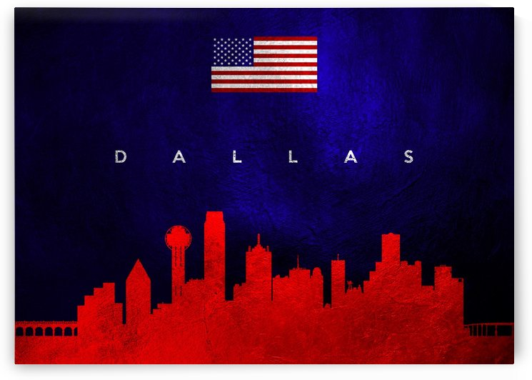 Dallas Texas Skyline by ABConcepts