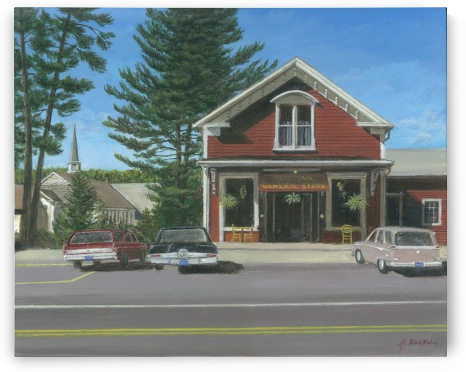 Church House and Store - Newtown Scenes 16X20 by Rick Kuhn