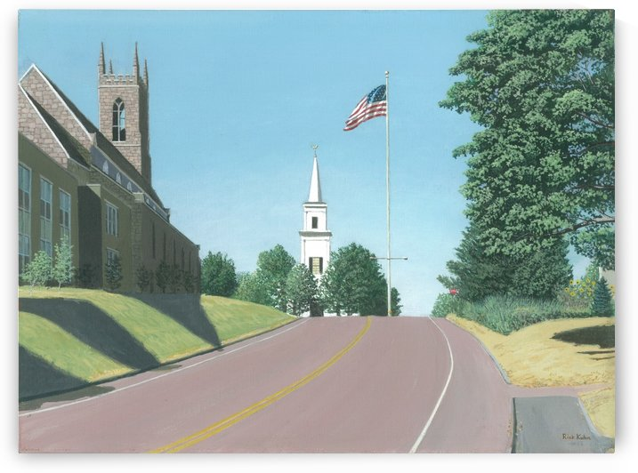 Church Hill Road - Newtown Scenes 16X20 by Rick Kuhn