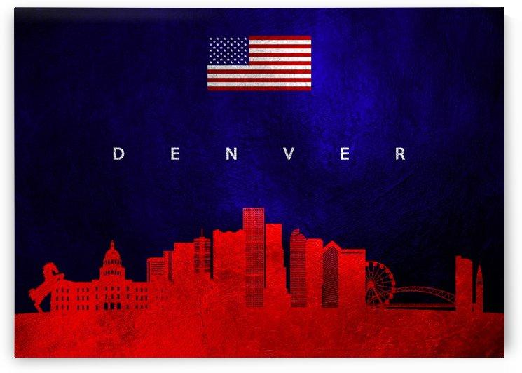 Denver Colorado Skyline by ABConcepts