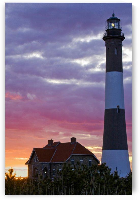 Fire Island Lighthouse At Sunset by Eliot Scher