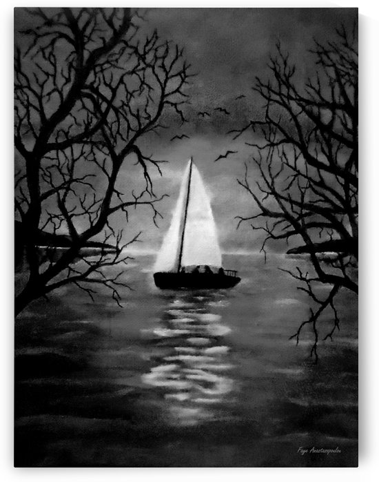 Moonlight Sailing by Faye Anastasopoulou