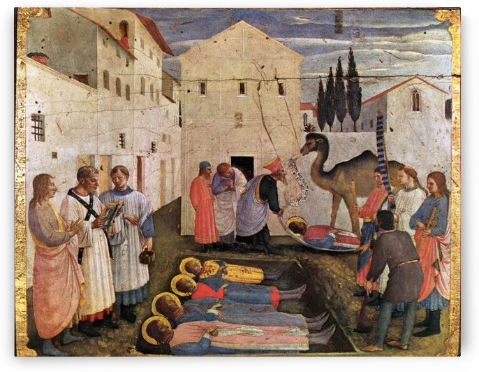 Sepulchring of Saint Cosmas and Saint Damian by Fra Angelico